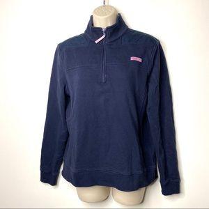 Vineyard Vines navy half zip pullover S BA1